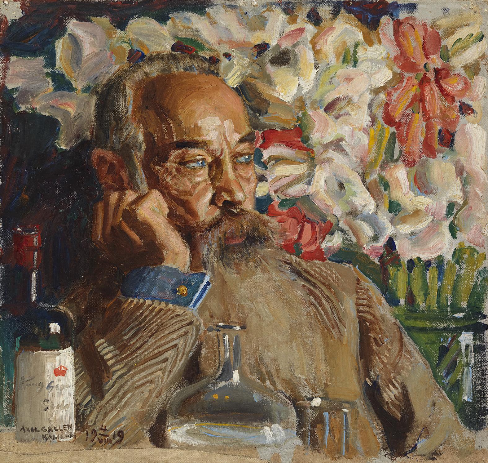 Akseli Gallen-Kallela: Sigurd Wettenhovi-Aspan muotokuva, 1919