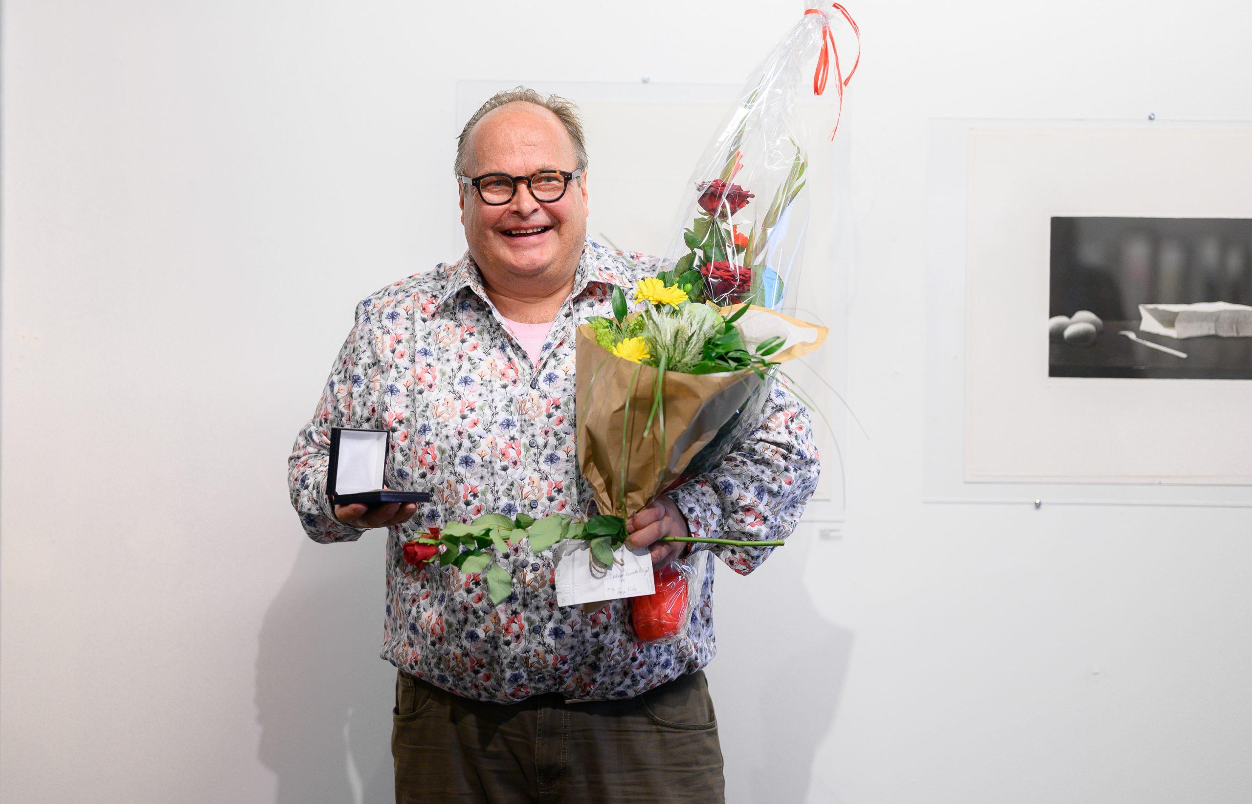 Grafiikanpaja Himmelblaun toimitusjohtaja ja Finlayson Art Arean tapahtumajohtaja Pertti Ketonen, kuvaaja: Mikko Vares