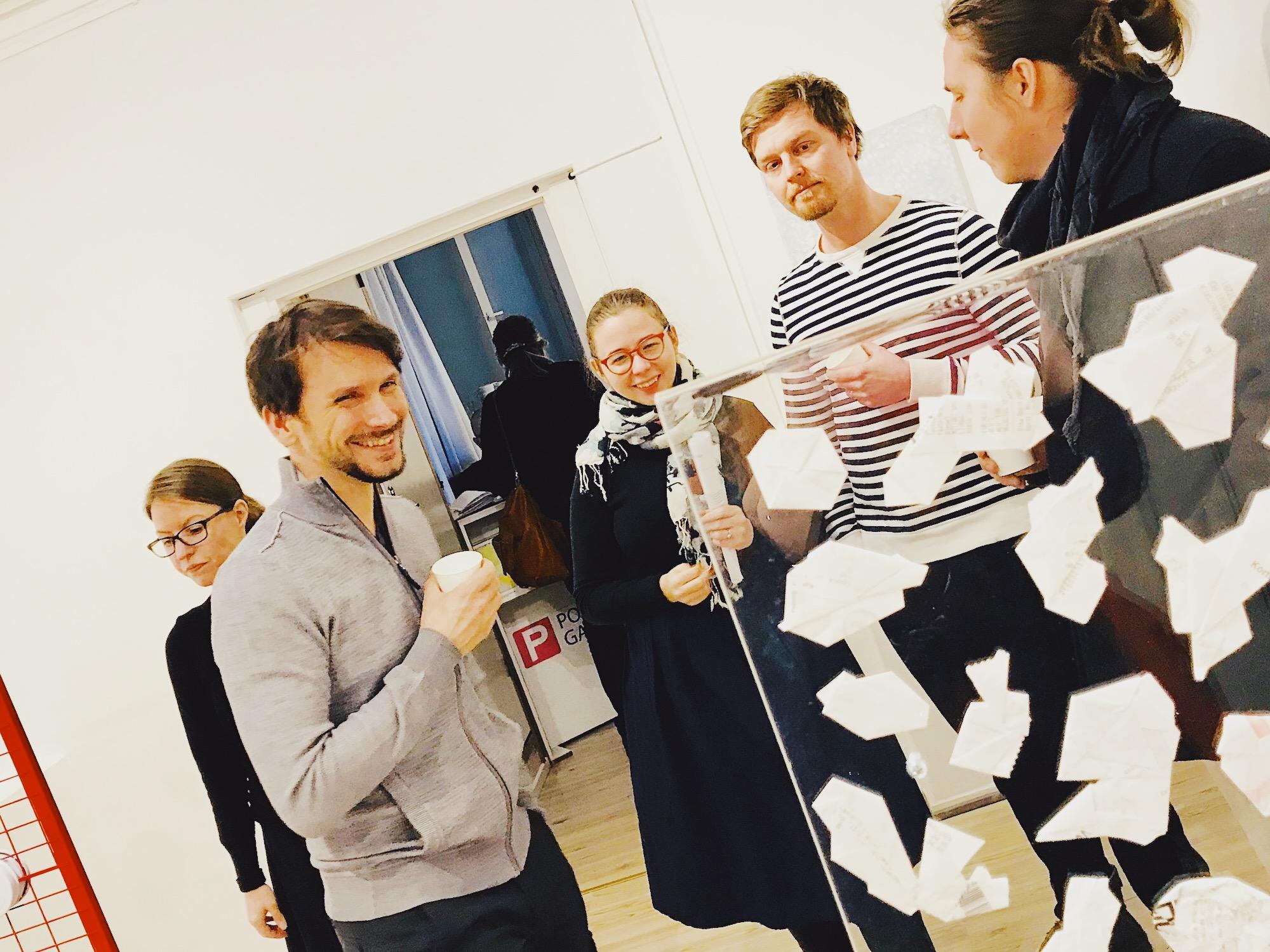 Mikko Ängeslevän näyttely P-galleriassa tammikuussa 2020. (Kuva Hanna Valtokivi)